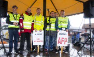 Streikende i Traftec